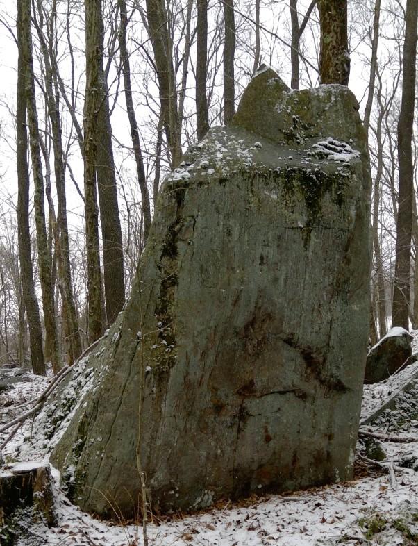 upright boulder